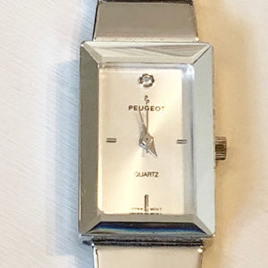 PEUGEOT Ladies Silvertone Quartz Wristwatch